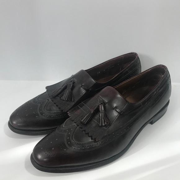 Bostonian Classics Oxblood Wingtip Tassel Loafers